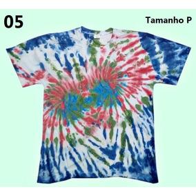 Camiseta Tingida Tie Dye Em Espiral Unisex - Malha 9276b71aa43