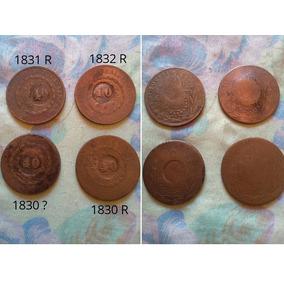 Moedas De Cobre 1830 R, 1830 B, 1831 R E 1832 R
