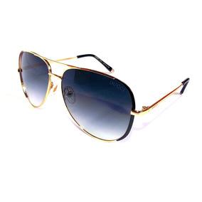 474679383a47b Óculos De Sol Feminino Gucci Xh6081 Metal Dourado Redondo