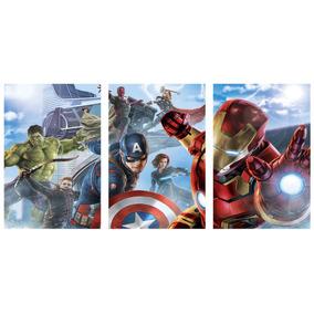 Los Vengadores Avengers Tríptico Cuadro (36cm X 76cm) (i)