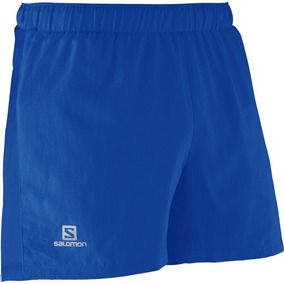 Short Masculino Salomon - Short Race Long Azul - Running