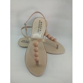 Sandálias Rasteirinha Via Master Conforto E Elegancia