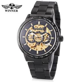Relógio Winner H216m Squeleton Automático Mecânico Luxo
