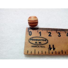 Bolas De Madera Natural 1 Cm Aprox. Bolsa Con 50 Piezas