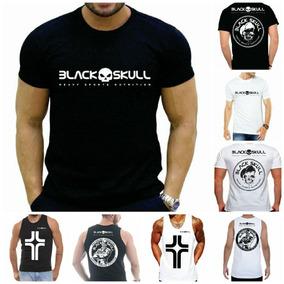 2 Camisas Manga Curta Black Skull +2 Regatas Treino fd86ba51b5882