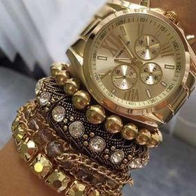 Pulseiras Femininas Michael Kors Mk - Joias e Relógios no Mercado ... 5254aa6631