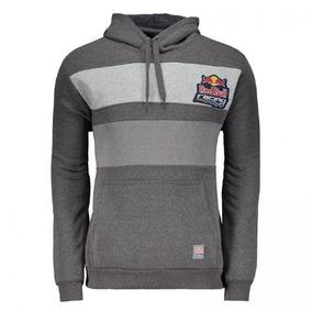 Moletom Red Bull Faixas Cinza Racing Cód  Cf36d37 50fbf0c55d1