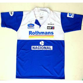a700c85b5bd29 Camisa Polo Ayrton Senna Nacional Rothmans Fórmula 1 F1