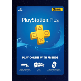 Ps Plus 3 Meses Suscripción Ps3 Ps4 Playstation Código