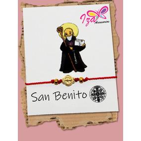 Pulsera De Hilo, San Benito, Para Proteccion.