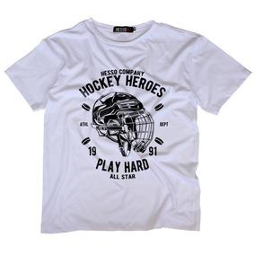 Camisa Camiseta Manga Curta Algodão Hockey Heroes Promoção 932492bffb7