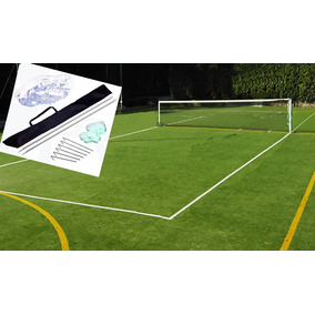 Red Cancha Futbol Tenis Kit Completo 3.5 M Parantes Lineas