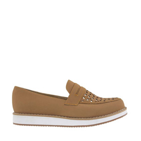 Zapatos Confort Shosh De Dama-mujer De Piso Color Miel Nq1