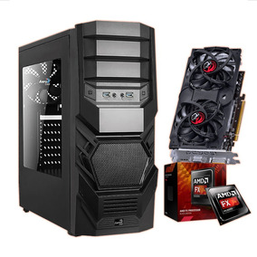 Pc Gamer Fx6300 + 8gb Mem + Hd 320gb + Vga 550 1gb C/nfe