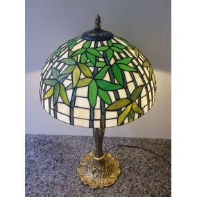 Abajur Escultura Tiffany Importado Verde ( Cod 16287dk )