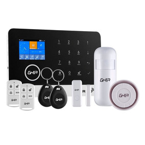 Kit De Alarma Ghia Con Panel Touch, Wifi / Gsm / 3g.