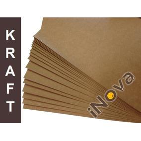 Papel Kraft 200g A4 (21 X 29,7 Cm) Pct Com 100 Folhas