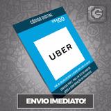 Cartão Pré-pago Uber R$ 100 Reais
