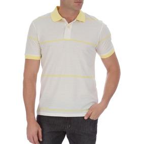 96f9971a5 Camisa Polo Colombo Masculina Amarela Listrada 40387