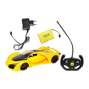 Carrinho Ferrari Controle Remoto Cores Bateria Recarregável