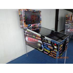 Gabinete Cromo C/ Kit Pinball Virtual 200 Jogos Sob Encom