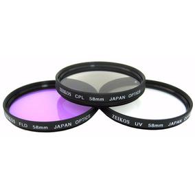 Kit Filtros Cámara 52mm Polar Flu Uv Japon Nikon D