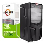 Torre Cpu Gamer Athlon 200ge Gt 1030 1tb 8gb Pc Wifi Gratis