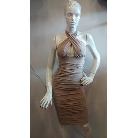 Vestido Para Dama Con Escote En La Espalda Color Ocre