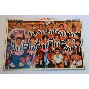 Pôster Do Atlético Mg Campeão Mineiro 1988