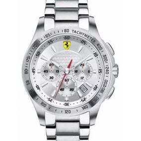 Relógio Scuderia Ferrari Em Aço Novo Com Nf E Garantia