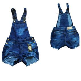 Macacão Macaquinho Jardineira Jeans Feminina Plus Size 36/52