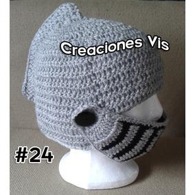 Gorro Casco Medieval Gladiador Tejido Crochet Todaslastallas 00d853c6152
