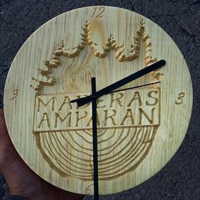 Reloj De Madera Solida Personalizado