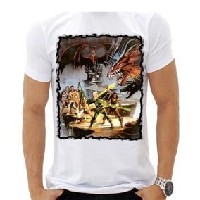 Camiseta Camisa Caverna Do Dragão Dungeons And Dragons