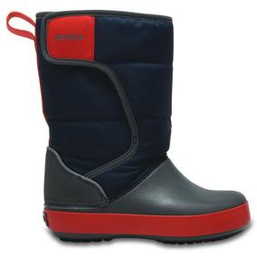 Bota Infantil Crocs Crocband Lodgepoint Snow Boot K Azul M