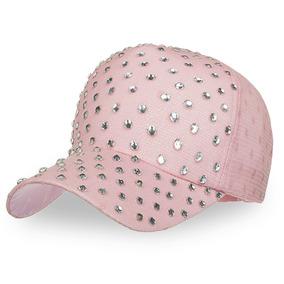 B522 Tapa Béisbol Diamante De Imitación Ajustable Sombrero
