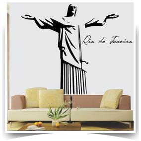b6a377afb6a Adesivo Parede Cristo Redentor Rio Janeiro Giga 1