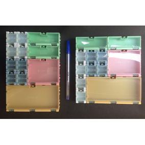 Mini Caixas Modulares P/ Acomodar Componentes Smd Eletrônico