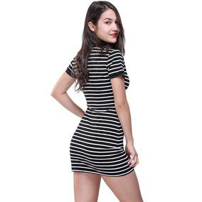 Vestido Rayas Blanco negro - Vestidos Casuales Mujer en Mercado ... a6b3c18b1d6f