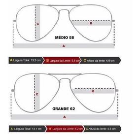 Oculos Ray Ban Aviador Tamanho G De Grau - Óculos no Mercado Livre ... 748d5c9417