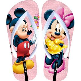 7f06523619 Chinelos Femininos Mickey Minnie Sandalia Menina C Promoção