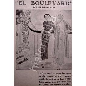 Publicidad Antigua D.f. Tienda De Ropa El Boulevard 1930 863d702611e7