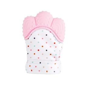 Luva Mordedor Bebês Silicone Pronta Entrega Rosa Azul