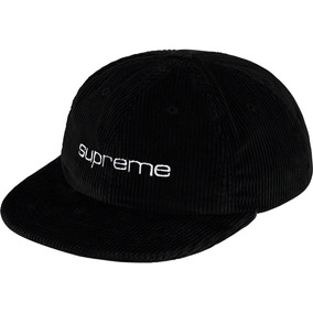Corduroy Compact Logo 6-panel Hat Gorra Supreme