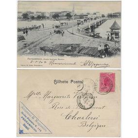 Pe 1904 Cartão Postal Foto Ponte Buarque Macedo Recife