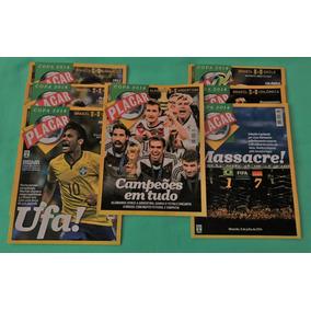 7 Revistas Placar Copa 2014 Jogos Seleção & Final Frete Zero