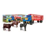 Camion De Hacienda Acoplado Con Animales Duravit Mundomanias