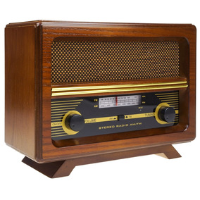 Replica Radio Am/fm Antigo Madeira Maciça Vintage R-068
