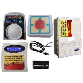 20 Campainha Alarme Para Casa De Repouso Cabo Usb + Bateria