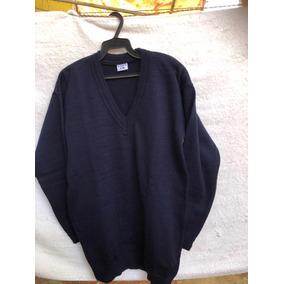 Suéter Escolar Azul Marino Tejido Cerrado Cuello V Talla 16 437603ace740